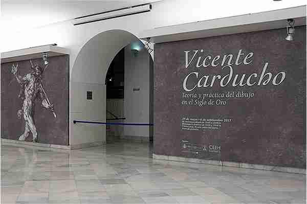 Hall de entrada a la exposición Vicente Carducho